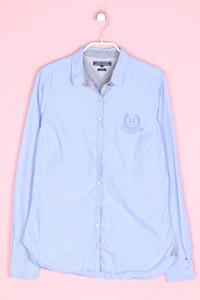 TOMMY HILFIGER - bluse aus baumwolle mit logo-stickerei - D 38
