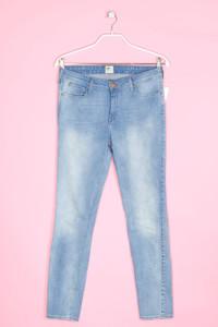 Lee - used look skinny-jeans mit logo-applikation - W32