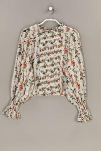 ZARA - bluse mit floralem muster mit biesen - S