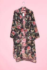 ZARA WOMAN - cardigan mit floralem muster - M
