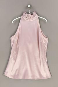 ZARA - ärmellose bluse aus satin mit raffungen - M