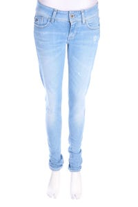 G-STAR - used look skinny-jeans aus baumwoll-mix mit logo-applikation - W27