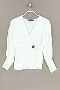 ZARA - bluse in wickel-optik mit 7/8-ärmel - XS