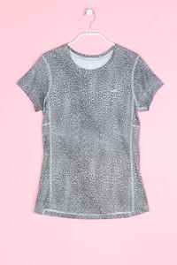 NIKE - muster- sport t-shirt mit logo-print - S