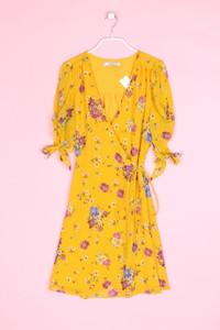 MANGO - wickelkleid mit floralem muster - S