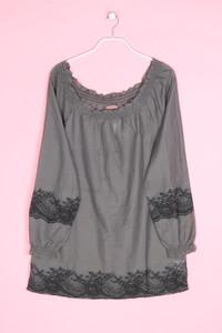 SAINT TROPEZ - oversize-bluse mit print - M