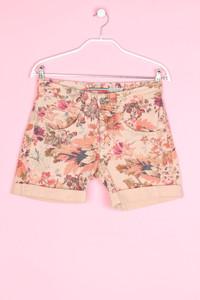 Please - jeans-shorts mit floralem muster - XXS