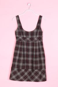 ZARA - träger-kleid aus woll-mix mit tartan-muster - S