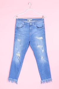 ZARA TRF - destroyed straight cut jeans - D 38