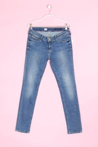 TOMMY HILFIGER - used look-jeans mit logo-badge - W30