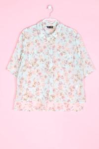 TOPSHOP - hemd-bluse mit kurzem ärmel - D 38