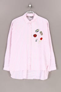ZARA - hemd-bluse mit streifen - L