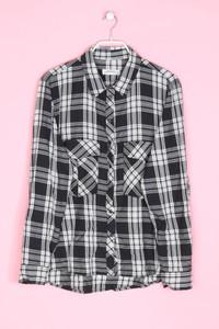 ZARA WOMAN - hemd-bluse mit karo-muster - XL