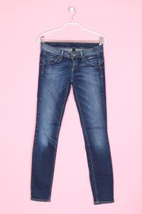 BENETTON JEANS - skinny-jeans im used look - W27