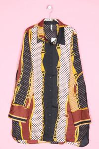 ZARA TRF - hemd-bluse mit print - L