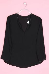 ZARA - bluse mit kunstleder-details - M