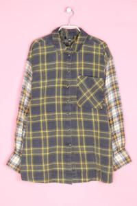 TOPSHOP - hemd-bluse mit karo-muster - D 38
