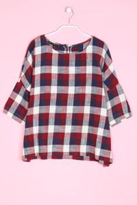 ZARA - karo-bluse mit 3/4-ärmel - XL