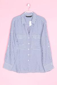 ZARA - streifen-bluse mit aufgesetzten taschen - XL