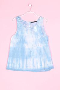ZARA TRF - ärmellose bluse mit stickereien - S