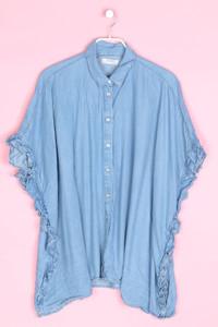 ZARA WOMAN - jeans-bluse mit rüschen - M