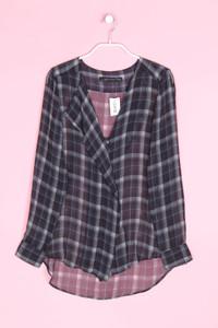 ZARA WOMAN - hemd-bluse mit karo-muster - XS