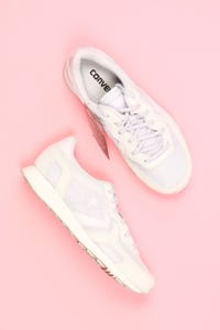 CONVERSE - low-top sneakers mit leder-details -