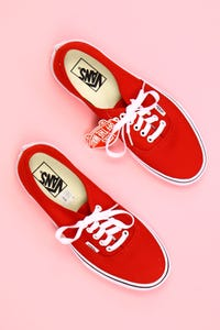 vans - low-top sneakers mit print -
