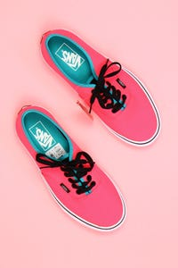 vans - neon-low-top sneakers -