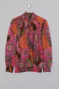 Desigual - Vintage Style-70s-Bluse im Blogger-Stil - S