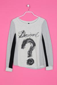 Desigual - Baumwoll-Sweatshirt mit Statement-Print - S