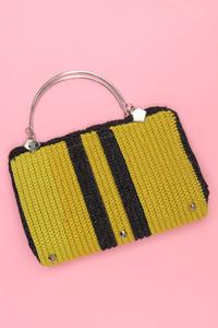 Vintage-Strick-Handtasche im Blogger-Stil mit Lurex