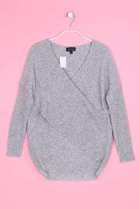 TOPSHOP - Strick-Pullover im Layer Look - XXS