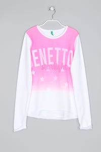 UNITED COLORS OF BENETTON - Statement-Sweatshirt mit Logo-Print - XS