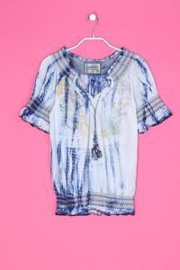 Desigual - Tunika-Bluse mit Stickereien - XS