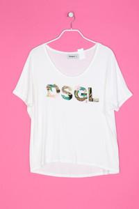 Desigual - besticktes Shirt mit Pailletten - S