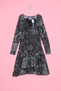 Desigual - Stretch-Kleid mit Print in A-Linie - XS