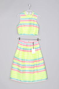 Lashes - Neon-Kostüm mit Streifen - M