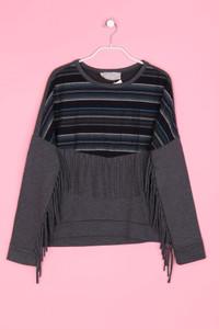 ZARA TRAFALUC - Oversize-Sweatshirt mit Fransen - M