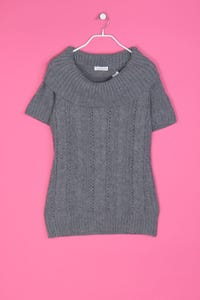 TOPSHOP - Strick-Pullover mit Zopf-Muster - L
