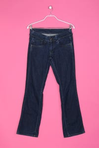 Pepe Jeans London - Used Look Bootcut-Jeans mit Logo-Stickerei - M