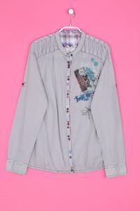 Desigual - Streifen-Bluse aus Baumwolle mit Schmuckstein-Applikationen - L