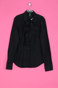 LAUREN RALPH LAUREN - Bluse mit Volants aus Baumwolle - XS