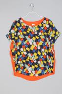 Colour Blocking-Shirt mit Print - XL