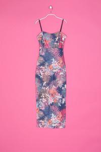 Stretch-Kleid mit Tropical Print - XS