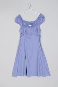 UNITED COLORS OF BENETTON - Sommer-Kleid aus Baumwolle mit Gummizug - M