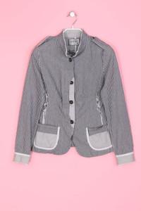 Desigual - Blazer-Jacke aus Baumwolle mit Streifen - L
