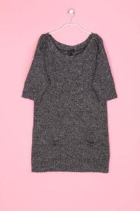 TOPSHOP - Strick-Kleid mit Schmuck-Knöpfen - XL