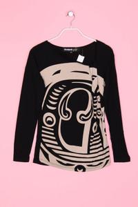 Desigual - Longsleeve-Shirt mit Print - M
