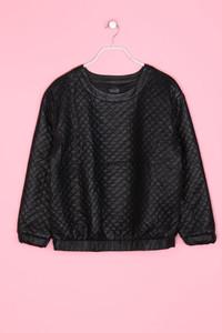 TOPSHOP - Faux Leather-Sweatshirt mit Steppung - M